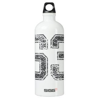 Gray Sports Jersey #63 Water Bottle