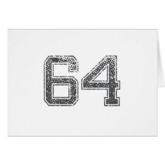 Gray Sports Jersey #64 Card
