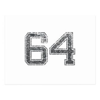 Gray Sports Jersey #64 Post Card