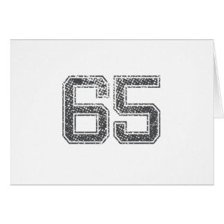 Gray Sports Jersey #65 Card
