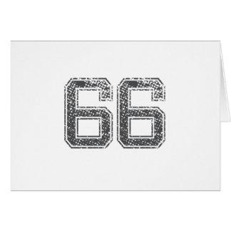 Gray Sports Jersey #66 Card
