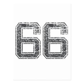 Gray Sports Jersey #66 Postcard