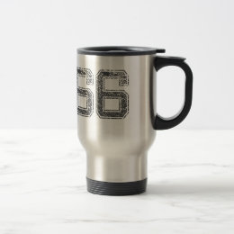 Gray Sports Jersey #66 Travel Mug