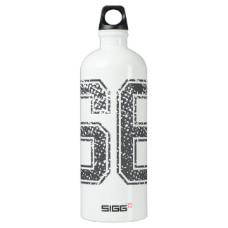 Gray Sports Jersey #66 Water Bottle