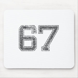 Gray Sports Jersey #67 Mouse Pad