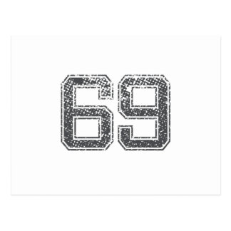 Gray Sports Jersey #69 Postcard