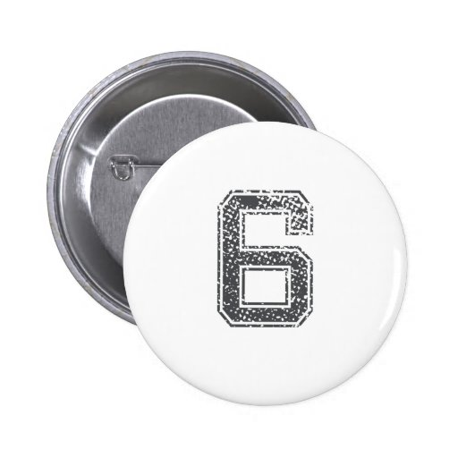Gray Sports Jersey #6 Buttons