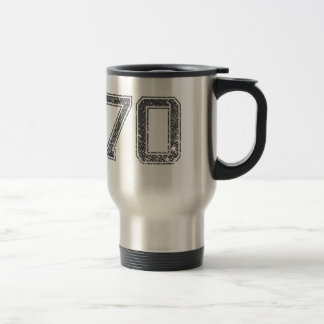 Gray Sports Jersey #70 Travel Mug