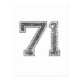 Gray Sports Jersey #71 Postcard