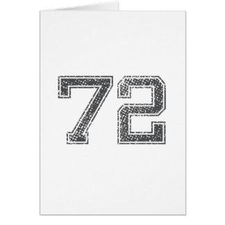 Gray Sports Jersey #72 Card
