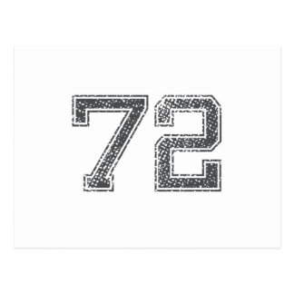 Gray Sports Jersey #72 Post Cards