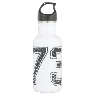 Gray Sports Jersey #73 Water Bottle