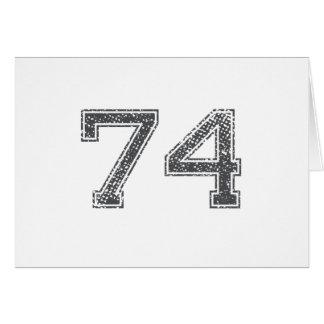 Gray Sports Jersey #74 Card