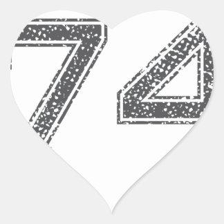 Gray Sports Jersey #74 Heart Sticker