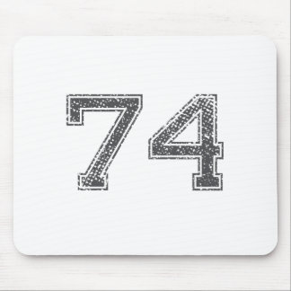 Gray Sports Jersey #74 Mouse Pad