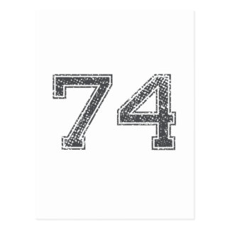 Gray Sports Jersey #74 Postcard