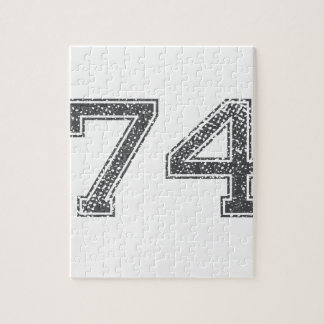 Gray Sports Jersey #74 Puzzles