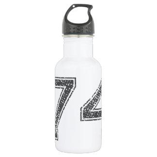 Gray Sports Jersey #74 Water Bottle
