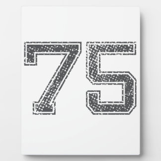 Gray Sports Jersey 75 Display Plaques