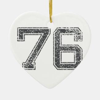 Gray Sports Jersey #76 Ceramic Ornament