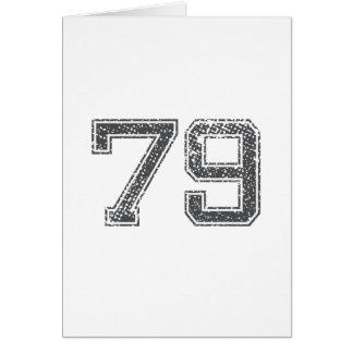 Gray Sports Jersey #79 Card