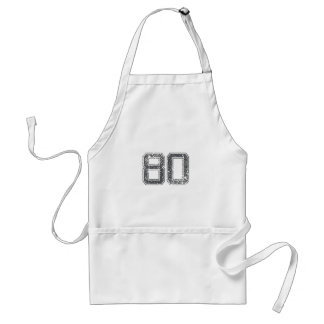 Gray Sports Jersey #80 Aprons