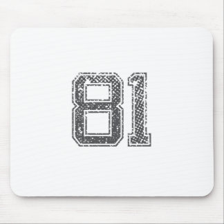 Gray Sports Jersey #81 Mouse Pad