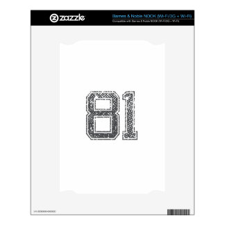 Gray Sports Jersey #81 Skin For The NOOK