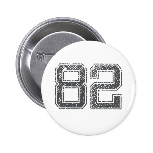 Gray Sports Jersey #82 Buttons