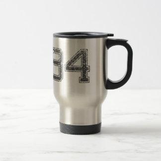 Gray Sports Jersey #84 Travel Mug