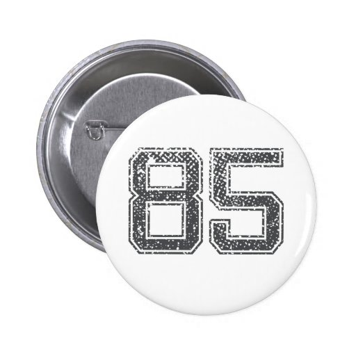 Gray Sports Jersey #85 Buttons