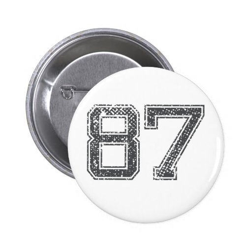 Gray Sports Jersey #87 Button