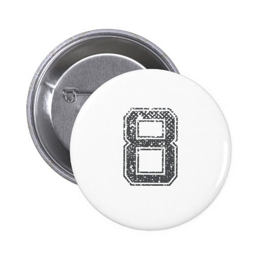 Gray Sports Jersey #8 Button