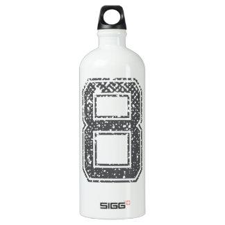 Gray Sports Jersey #8 Water Bottle