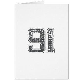 Gray Sports Jersey #91 Card