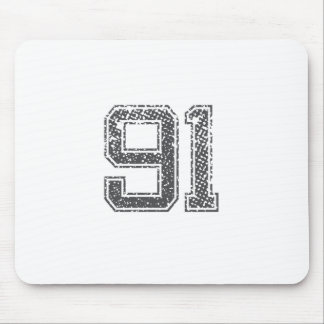 Gray Sports Jersey #91 Mouse Pad