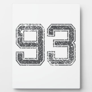 Gray Sports Jersey 93 Photo Plaque