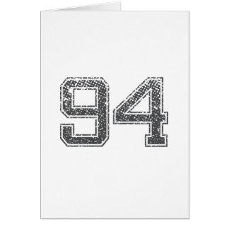 Gray Sports Jersey #94 Card