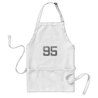 Gray Sports Jersey #95 Adult Apron
