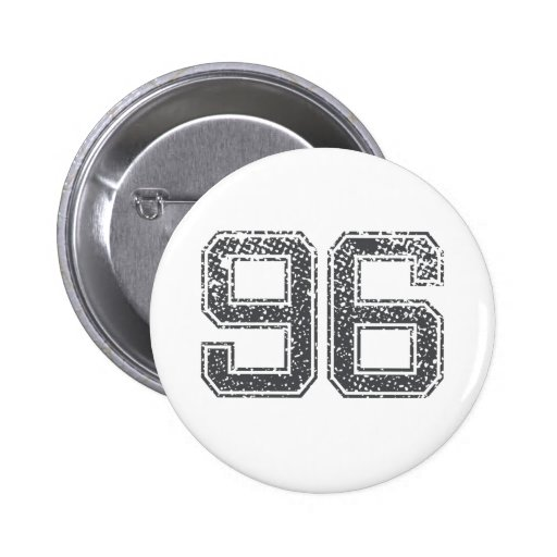 Gray Sports Jersey #96 Pinback Button