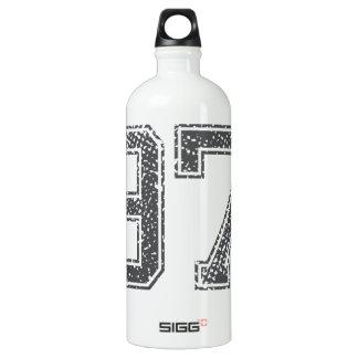 Gray Sports Jersey #97 Aluminum Water Bottle