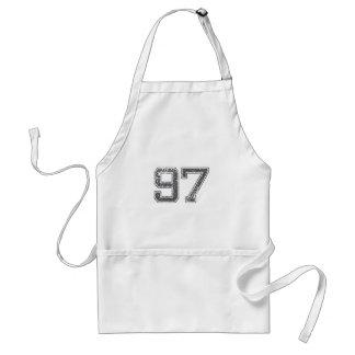 Gray Sports Jersey #97 Apron