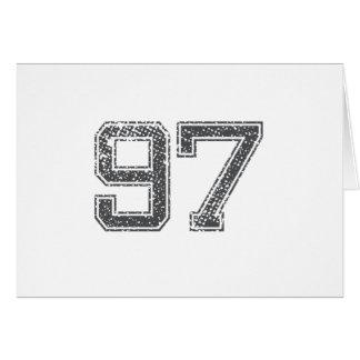 Gray Sports Jersey #97 Card