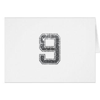 Gray Sports Jersey #9 Card