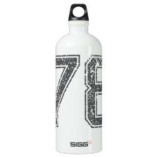 Gray Sports Number 78 Water Bottle