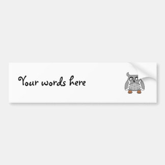 Gray spotted owl bumper sticker