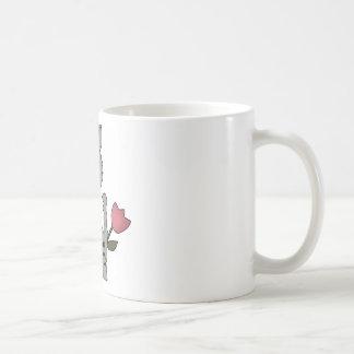 gray spring cat mug