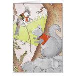 Gray Squirrel & Chickadee Card