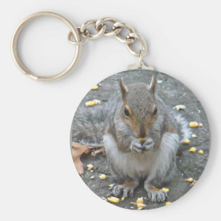 Gray Squirrel Christmas Blessings Series Basic Round Button Keychain