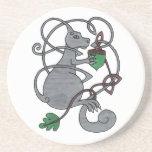 Gray Squirrel coaster